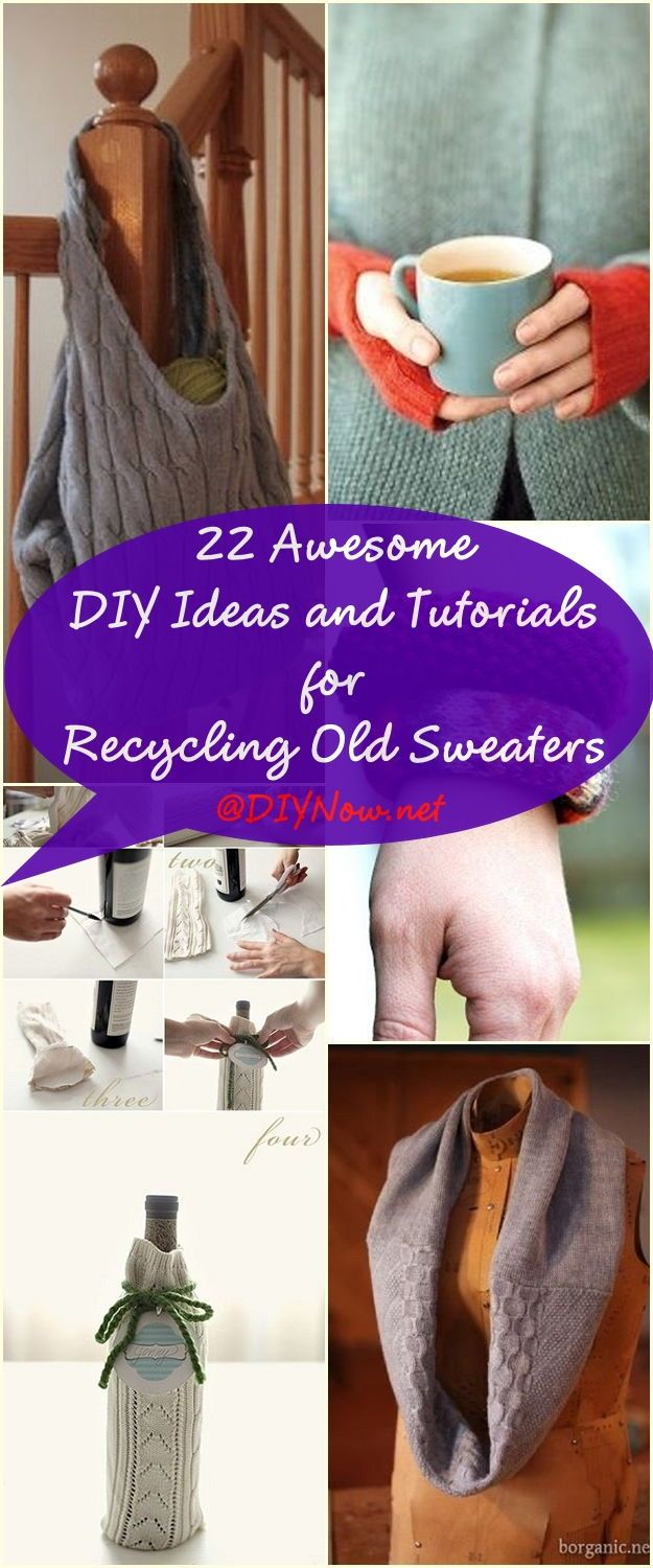 22 Awesome DIY Ideas and Tutorials for Recycling Old Sweaters