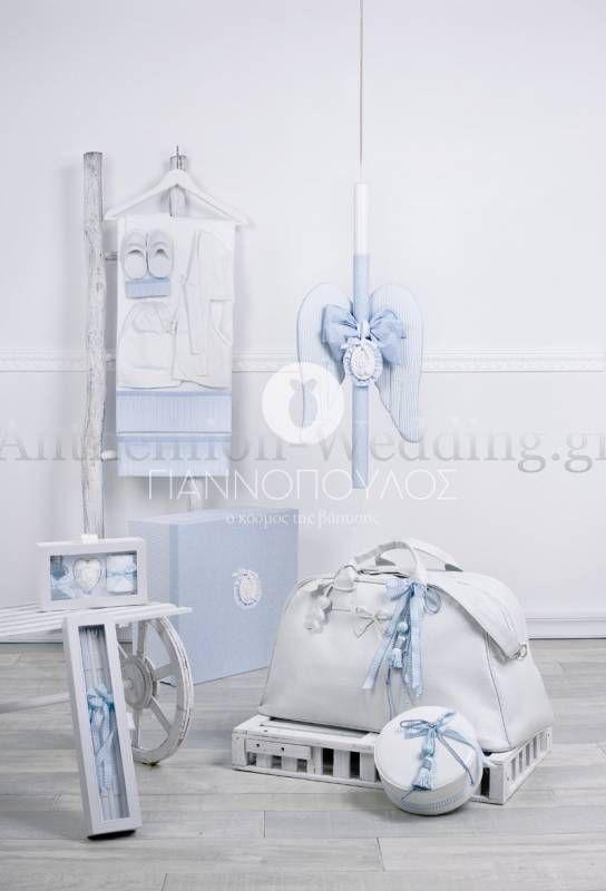 Βαπτιστικό σετ πλήρης για αγόρι \'\' γαλάζιος Άγγελος\'\'.