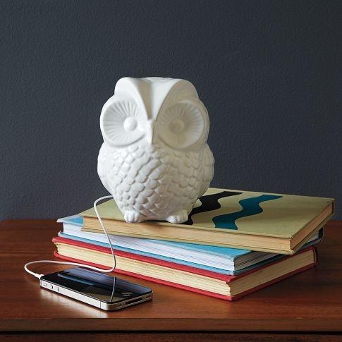 West Elm - Ceramic Owl Speaker (also available in squirrel, fox, bear)