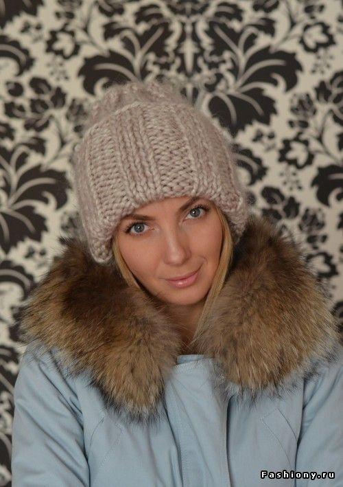 Актуальная вязаная шапка oversize для тех кто не умеет вязать / хочу связать интересную шапку спицами