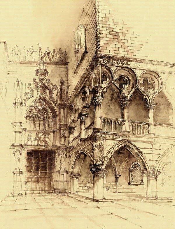 Architectural sketches, artist?