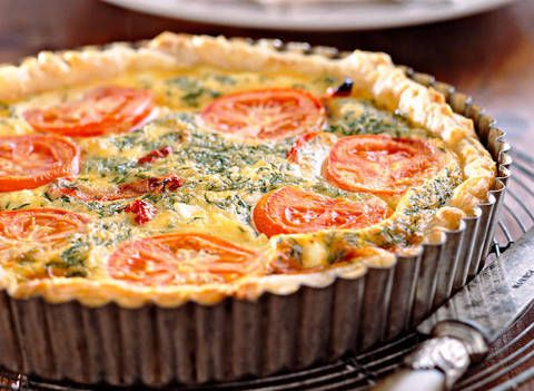 Feta and tomato tart: Any feta will work well in this recipe, but sheep's feta is the richest and best to use.