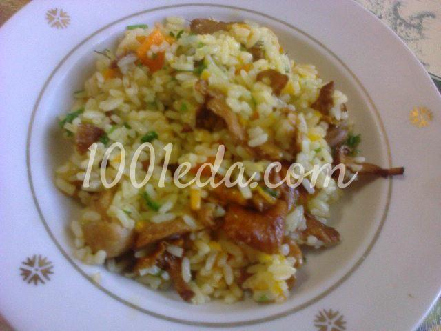 Рис с лисичками в мультиварке: рецепт с пошаговым фото
