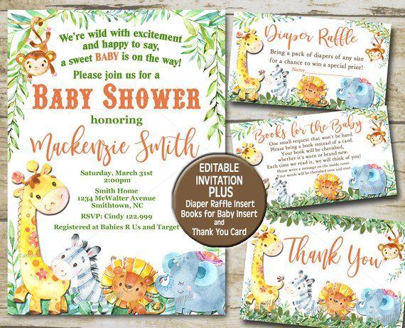 This Item Is Unavailable Etsy Safari Baby Shower Invitations Jungle Animals Baby Shower Safari Baby Shower