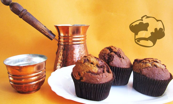 Coffee and cocoa muffins