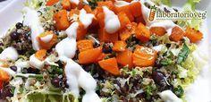 Insalata di quinoa, fagioli neri e zucca