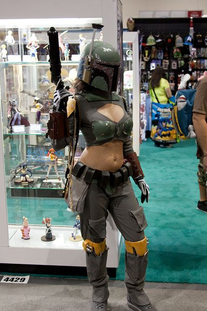 How stupid… As much as Boba Fett is cool, you can be a woman and not have to s…
