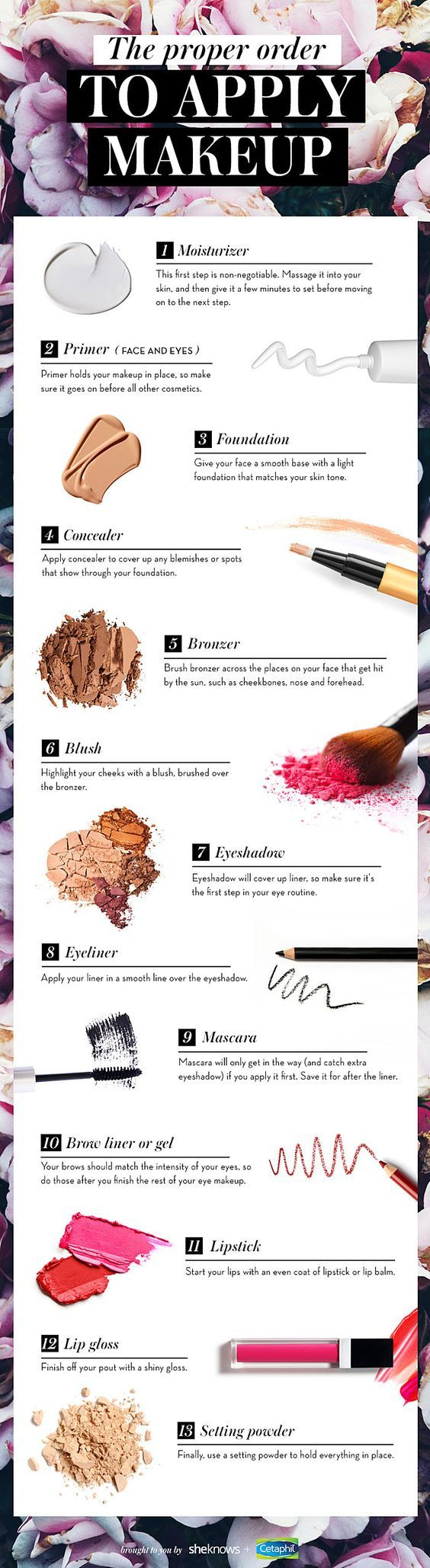 There's a correct order for applying makeup and I'm going to tell you what it is