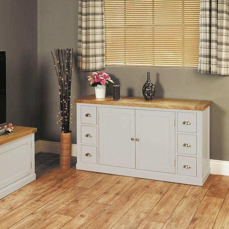 Chadwick Satin Lacquered Oak Small Sideboard With 6 Drawers -  - Sideboard - Baumhaus - Space & Shape - 1