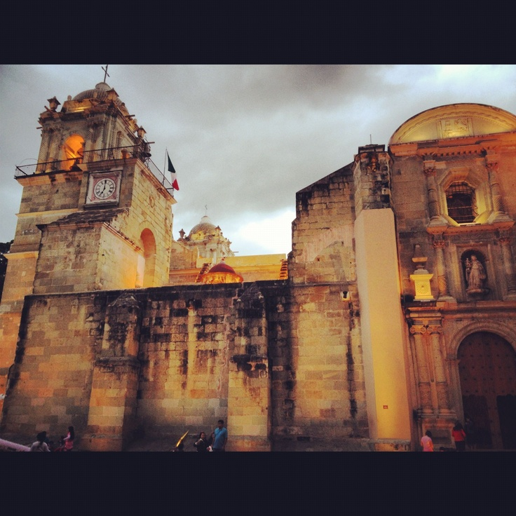 Catedral de la ciudad de Oaxaca.
