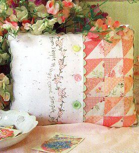 Simple joys of spring pillow