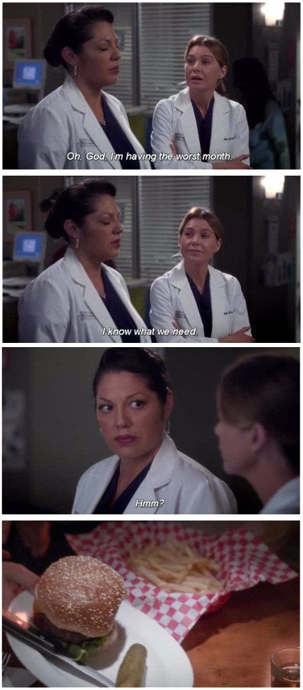 When Callie and Mer acknowledged what they really needed to get through the day…