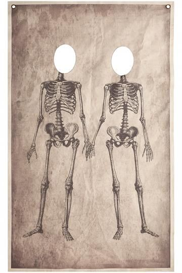 Martha Stewart Living Skeleton Couple Photo Banner