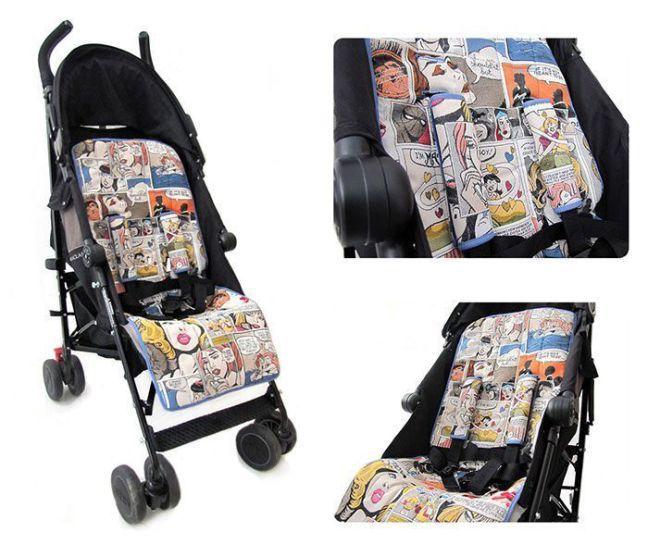 Tutorial que muestra el paso a paso para confeccionar una colchoneta para silla de paseo modelo Maclaren Quest