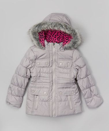 Look at this #zulilyfind! Silver Zip-Up Puffer Coat - Infant & Girls by Dollhouse #zulilyfinds