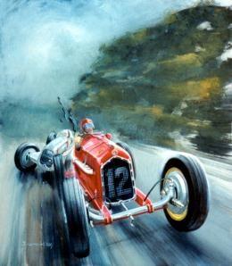 1935 German Grand Prix by Jack Juratovic