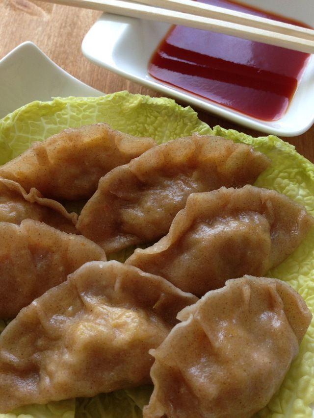 Ravioli cinesi al vapore in salsa agrodolce – Ricetta vegan