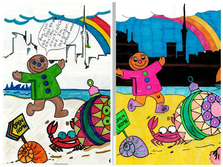 Winning entries from the Barfoot & Thompson colouring competition. Both lucky winners will join us on the Gingerbread float in this year's Farmers Santa Parade.