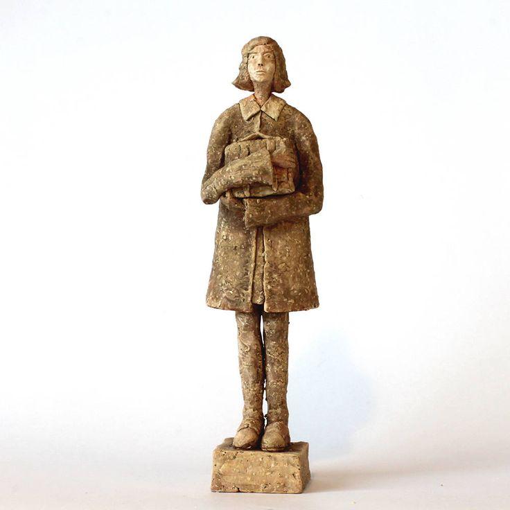 Anne Frank, Ceramic Sculpture, Unique Ceramic Figurine, Ceramic, ceramic figurine by arekszwed on Etsy