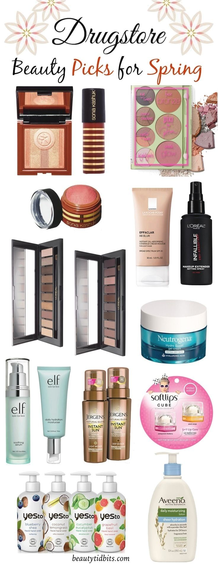 Drugstore Makeup and Beauty Picks for Spring