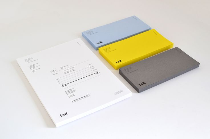 Tait Identity by Studio Tait via Hatch Inc. Visual Journal