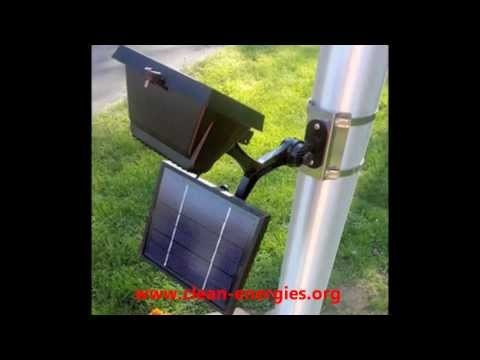 Commercial Solar Flagpole Light - Solar Sign Light - Solar Flood Light