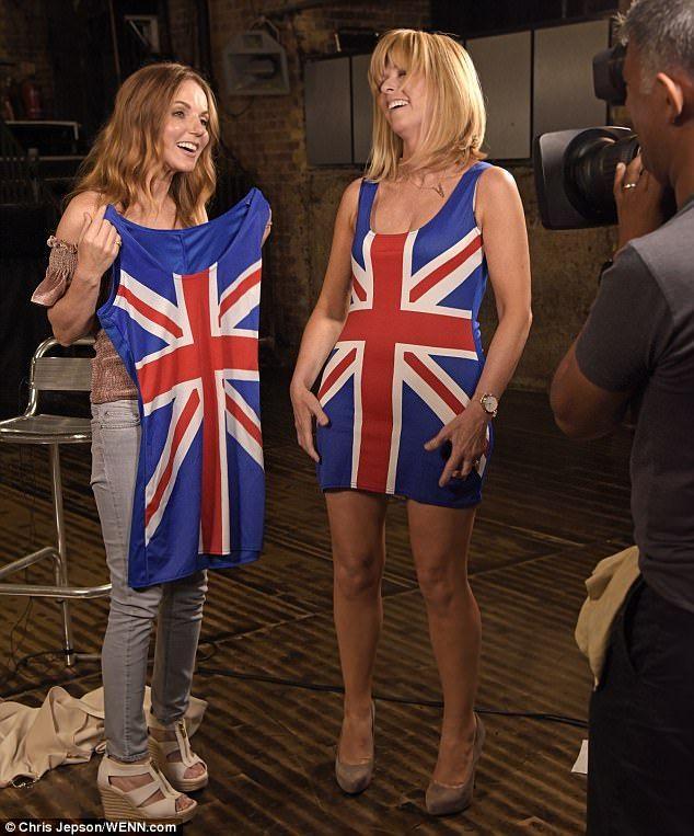 Kate Garraway sports replica of Geri Horner's Union Jack mini on GMB #dailymail