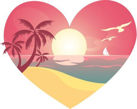 Сердце пляж вид