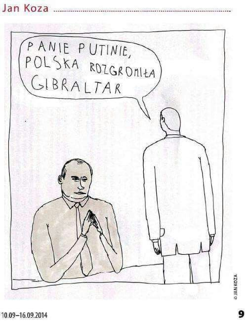 Mr Putin, Poland defeated Gibraltar