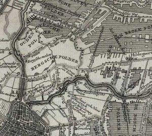 Geschiedenis Bergpolder wordt Liskwartier: 1750. De Rotte bij Rotterdam Noord