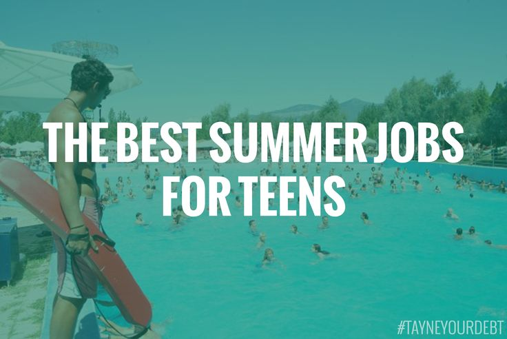 summer jobs for teenagers