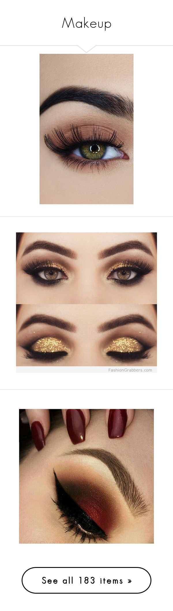 """Makeup"" by vanessa-joynelly on Polyvore featuring beauty products, makeup, eye makeup, false eyelashes, beauty, eyes, olho, black, eyeshadow e bath & beauty"