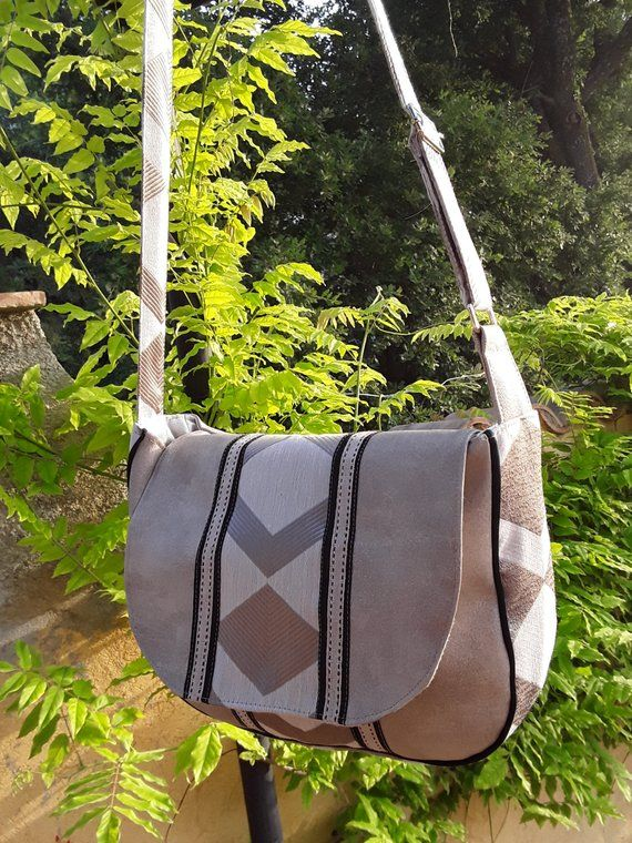 And Beige Bag Fabric Geometric Suede Hobo Printed Pattern bf6yvgY7