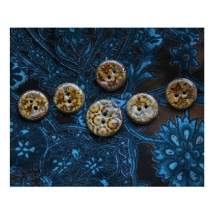guziki ceramiczne // ceramic buttons // motyle i kwiaty (proj. Karolina Gletkier)