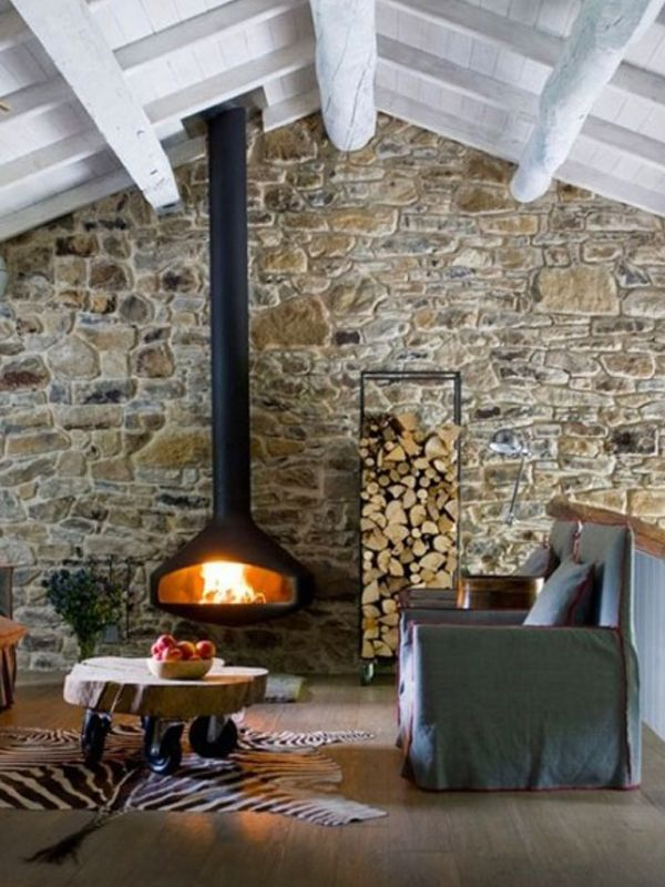 best 25 modern stone fireplace ideas on pinterest stacked stone fireplaces modern fireplace. Black Bedroom Furniture Sets. Home Design Ideas