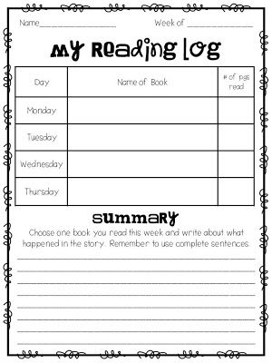 Homework tips and ideas and a FREE Reading Log