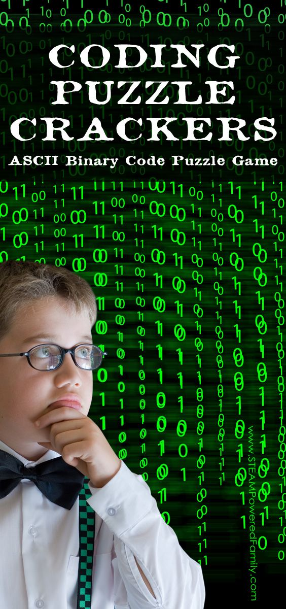 Binary code is fun to learn with this ASCII Binary Code Puzzle Game. Have fun deciphering the secret words with a magic reveal via @steampoweredfam