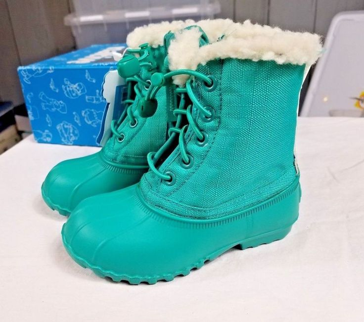 New toddler 8 Native brand Boots Green Teal Child boots recycled snow eco friend #NativeShoes #Boots