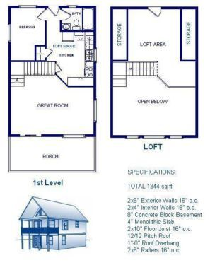 20x30 cabin w loft plans package blueprints material for 20x30 house designs and plans