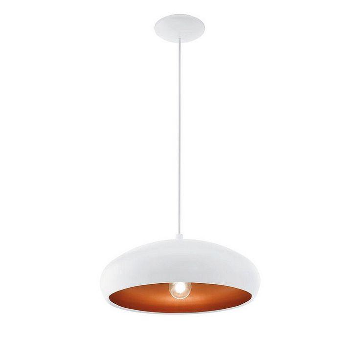 Eglo Mogano 1 Hanglamp - Wit #vtwonencollectie