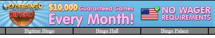 Recommended online bingo site with live chat room accepting players worldwide.