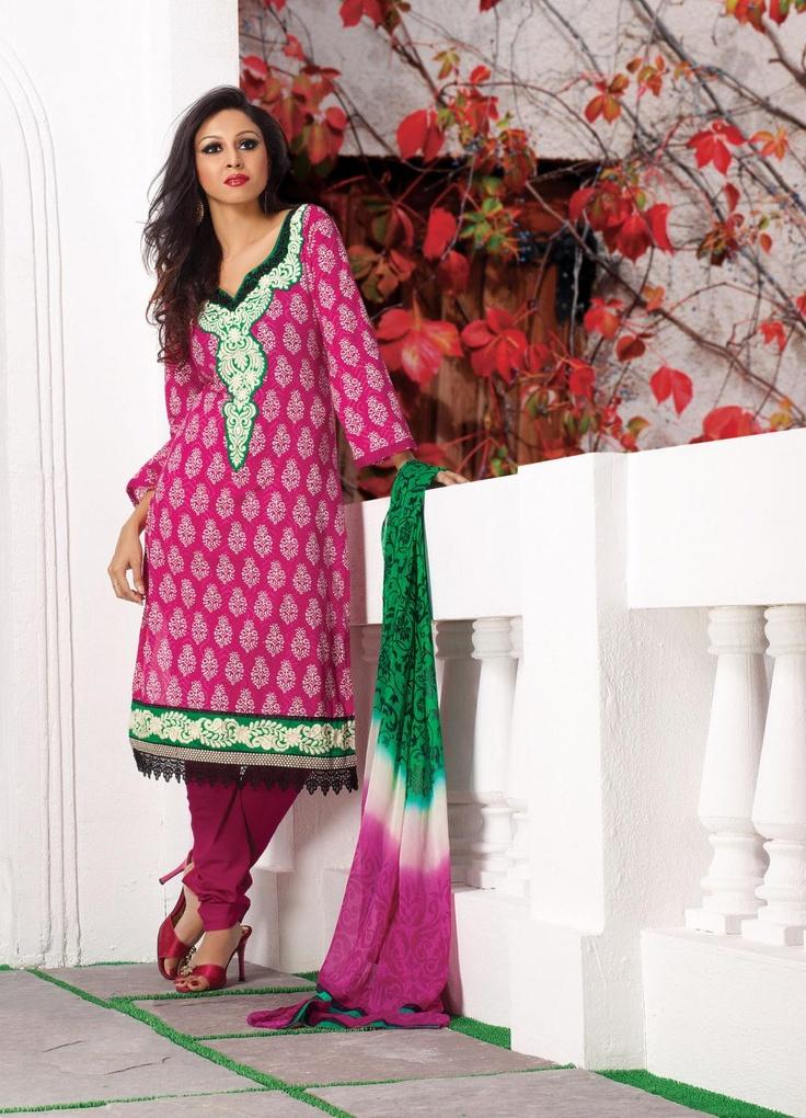 $45.09 Pink Embroidery Faux Georgette Salwar Kameez 22528