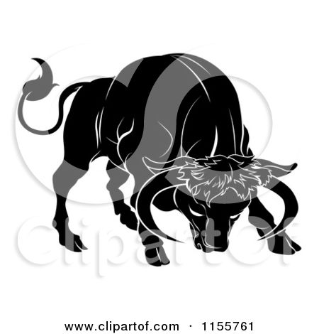 charging bull tattoos   Zodiac Vector Misc Tattoo Pictures to Pin on    Taurus Bull Drawing