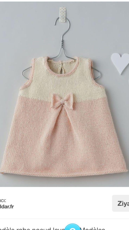 Modèle robe bébé - modèles tricot robes layette