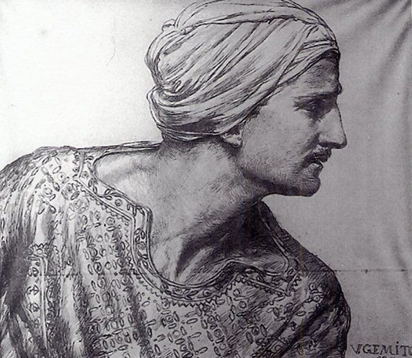 Ritratto di Nino Cesarini in vesti orientali di Vincenzo Gemito (Collezione Maesano - 1914)