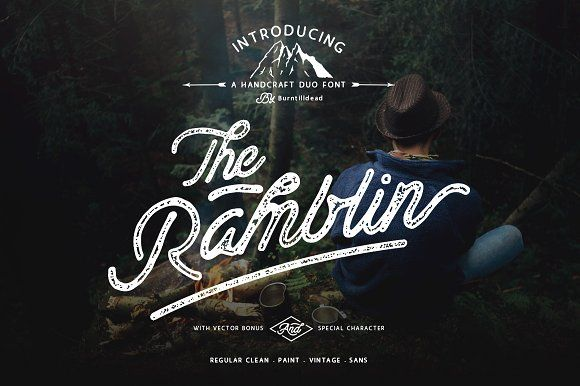 Ramblin Font Duo (15% OFF) by Burntilldead on @creativemarket