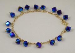 Cobalt Crystal Bracelet