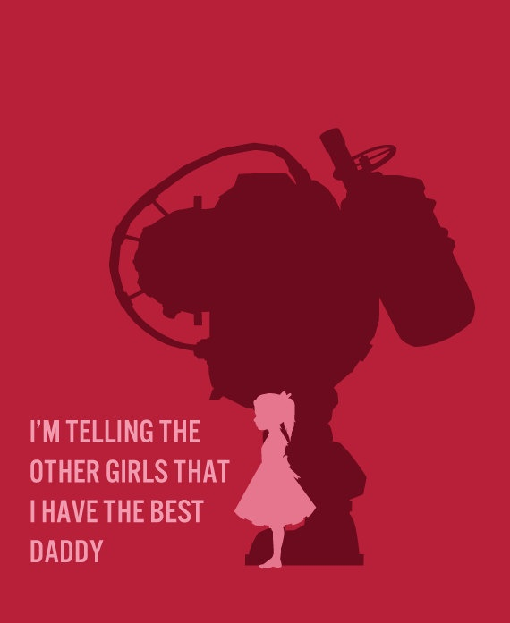 BioShock  Card - The Best Daddy Little Sister Big Daddy-  BioShock Card great for Valentine's Day