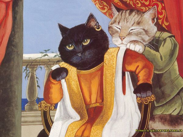 King of cats? It reminds me a legend from Britain concerning Kadeo, the king of cats
