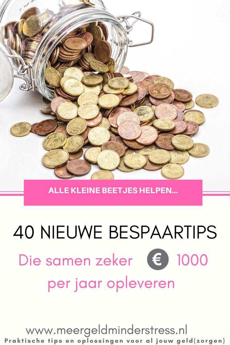 Na het succes van meer dan 30 kleine bespaartips, heb ik nu ruim 40 nieuwe bespaartips verzameld. Deze leveren samen zeker meer dan € 1000 per jaar op!